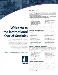 Рекламен материал за Международна година на статистиката 2013