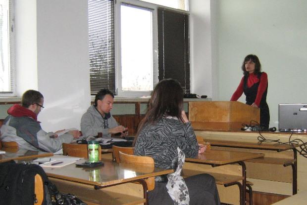 Презентация на г-жа Илга Иванова пред студенти от Добруджанския технологичен колеж