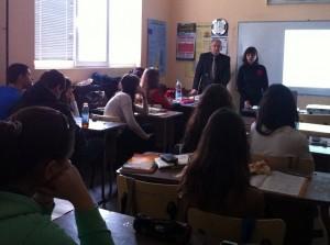 Неделчо Василев и Илга Иванова с учениците