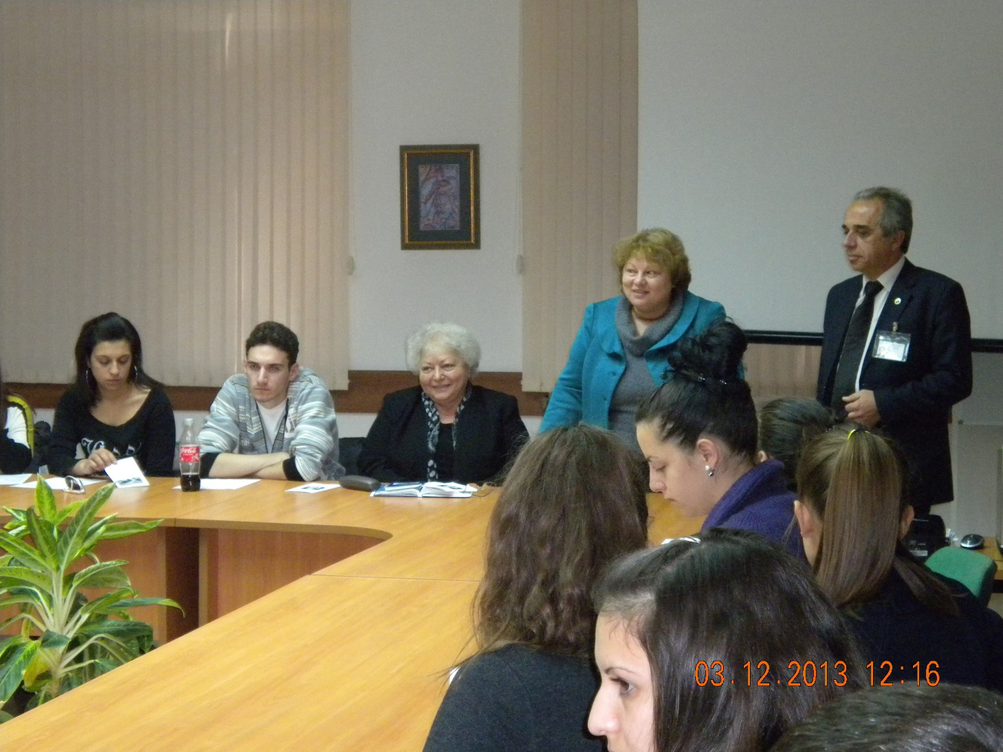 Откриване на информационната среща в Конферентната зала на Университетската библиотека