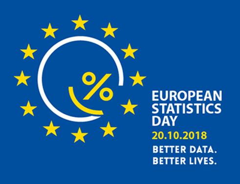 Лого на Европейския ден на статистиката 2018